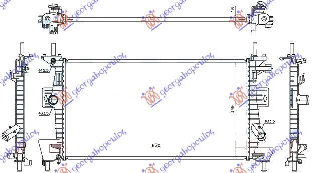Εικόνα από ΨΥΓΕΙΟ 1.6i -16VTi +/- AC (67x37x16)(KOY