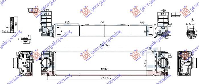 Εικόνα από ΨΥΓΕΙΟ INTERCOOLER 1.5 (T2/T3-Τ4/T5 HYBR